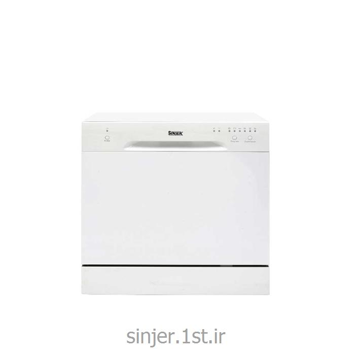 عکس ماشین ظرفشوییماشین ظرفشویی 8 نفره سفید سینجر Sinjer DWS8-M3801W