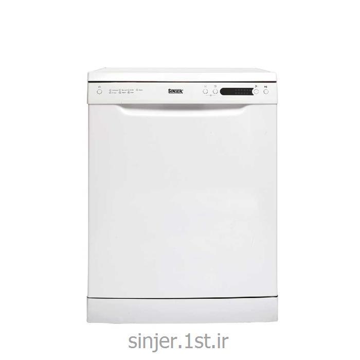 عکس ماشین ظرفشوییماشین ظرفشویی 14 نفره سفید سینجر  Sinjer DWS14-M7217W
