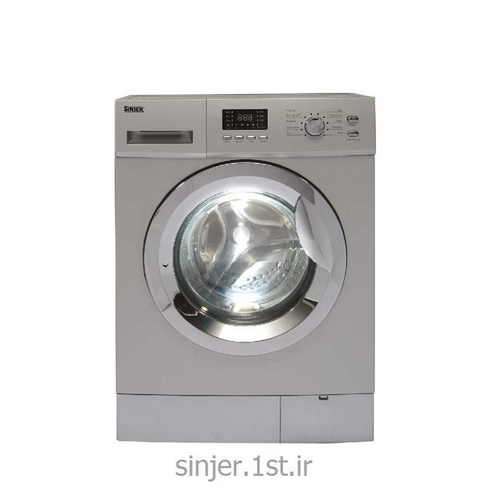 عکس ماشین لباسشوییماشین لباس شویی 8 کیلوگرم نقره ای درب کروم سینجر Sinjer WMS-80-2812SC
