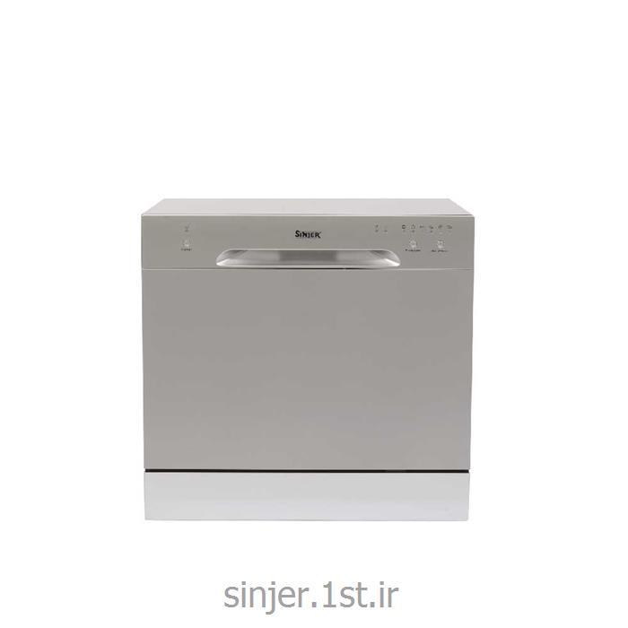 عکس ماشین ظرفشوییماشین ظرفشویی رومیزی نقره ای سینجر Sinjer DWS8-M3801S