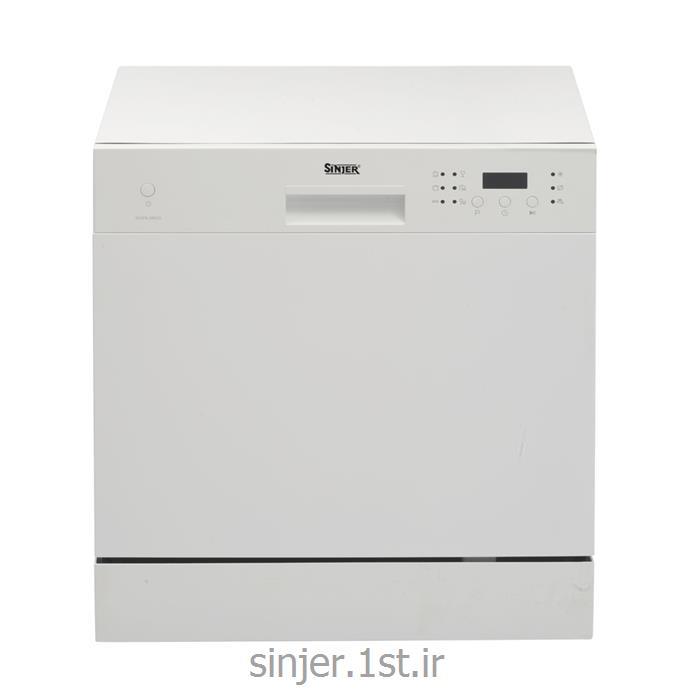 عکس ماشین ظرفشوییماشین ظرفشویی رومیزی هشت نفره سفید سینجر Sinjer DWS8-M3802W
