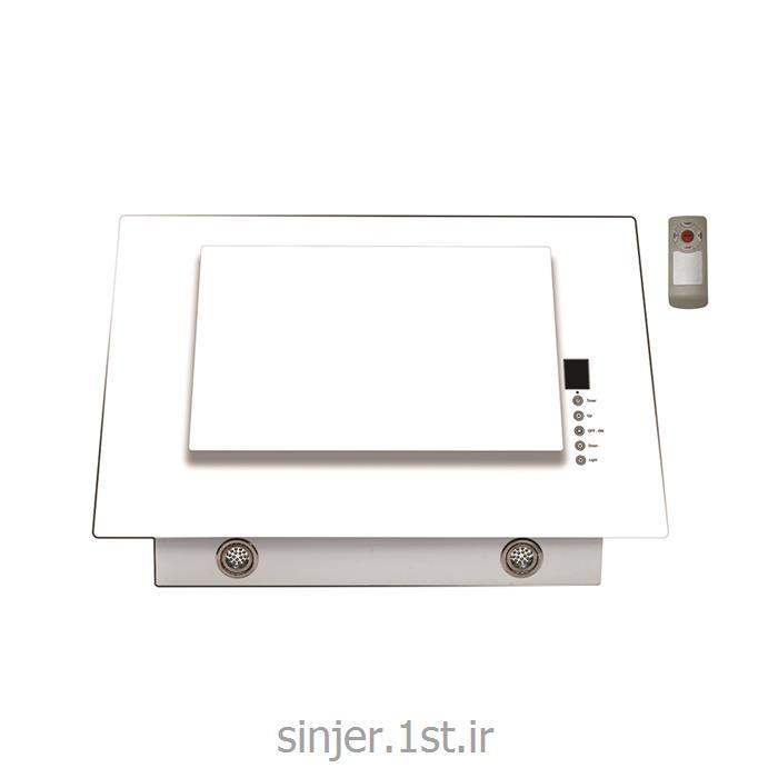 هود شیشه تخت سفید تایمر و ریموت دارفیلتر آلومینیوم سینجر Sinjer HV10