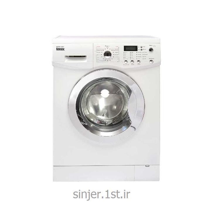 عکس ماشین لباسشوییماشین لباسشویی هشت کیلو بدنه سفید درب کروم سینجر Sinjer WMS-80-L812WC2