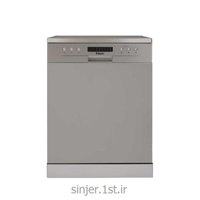 ماشین ظرفشویی 3 سبد نقره ای سینجر  Sinjer DWS14-M7209S