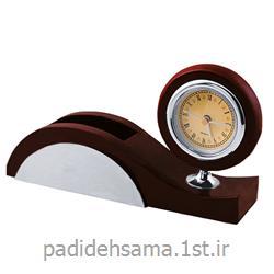ساعت و جا موبایلی رومیزی تبلیغاتی کد W080