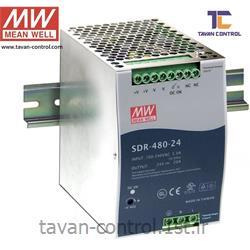 منبع تغذیه سوئیچینگ مین ول 24 ولت 20 آمپر مدل SDR-480-24 MEAN WELL