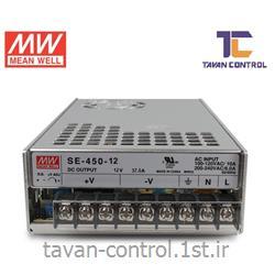 منبع تغذیه مینول 12 ولت 37 آمپر مدل SE-450-12 MEANWELL
