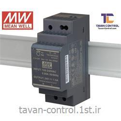 منبع تغذیه سوئیچینگ مینول 24 ولت 1.5 آمپر ریلی مدل HDR-30-24 MEAN WELL