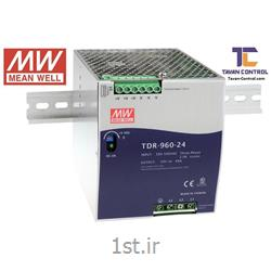 منبع تغذیه سوئیچینگ مینول24ولت40آمپر ریلی مدل MEAN WELL TDR-960-24