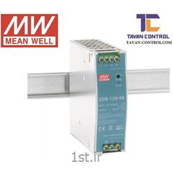 عکس منبع تغذیه سوئیچینگمنبع تغذیه مینول 48 ولت 2.5 آمپر ریلی مدل EDR-120-48 MEAN WELL