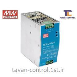 منبع تغذیه سوئیچینگ 24ولت 10 آمپرمینول مدل NDR-240-24 ریلی MEANWELL
