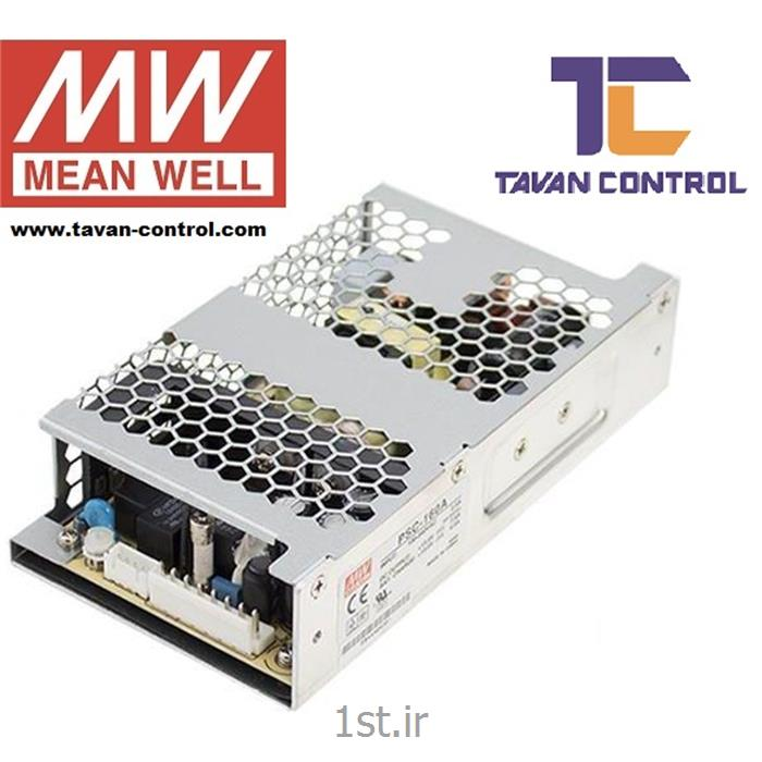 منبع تغذیه و شارژر مین ول 24 ولت 5.8 آمپر مدل PSC-160B MEAN WELL