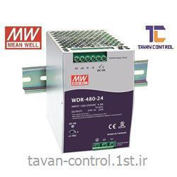 منبع تغذیه سوئیچینگ 24 ولت 20 آمپر ریلی مینول مدل WDR-480-24 MEANWELL