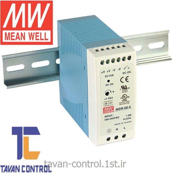 منبع تغذیه مینول 24 ولت2.5 آمپر مدل MDR-60-24