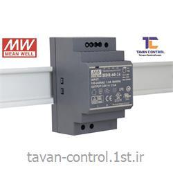 منبع تغذیه سوئیچینگ مینول24ولت 2.5آمپر ریلی مدل HDR-60-24 MEAN WELL