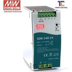 عکس منبع تغذیه سوئیچینگمنبع تغذیه سوئیچینگ مین ول 24 ولت 10 آمپر مدل SDR-240-24 MEAN WELL