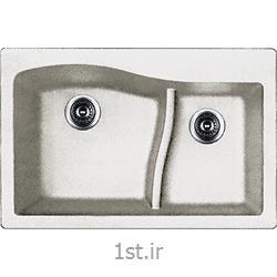 عکس سینک آشپزخانهسینک دو لگنه گرانیتی کن Qzl3322