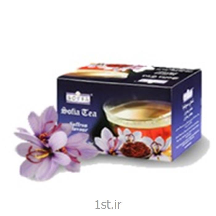 عکس چای سیاهچای کیسه ای سوفیا با طعم زعفران