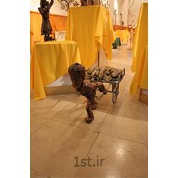 عکس صنایع دستی فلزیمجسمه فلزی تزئینی مدل گاری هیزم کش