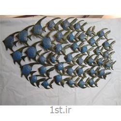 عکس صنایع دستی فلزیتابلو فلزی دیواری مدل ماهی