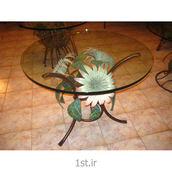 میز فلزی پذیرایی طرح سه گل
