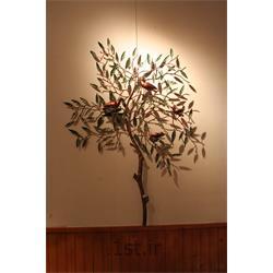 تابلو فلزی دیواری مدل درختچه و گنجشک