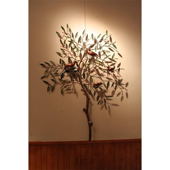عکس صنایع دستی فلزیتابلو فلزی دیواری مدل درختچه و گنجشک
