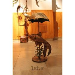 عکس صنایع دستی فلزیآباژور فلزی تزئینی مدل چتر ماهی