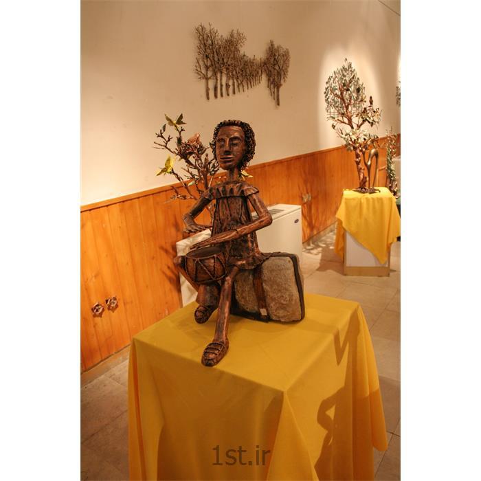 عکس صنایع دستی فلزیمجسمه فلزی تزئینی مدل تنبک زن