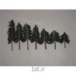 عکس صنایع دستی فلزیتابلو فلزی دیواری مدل درختان کاج