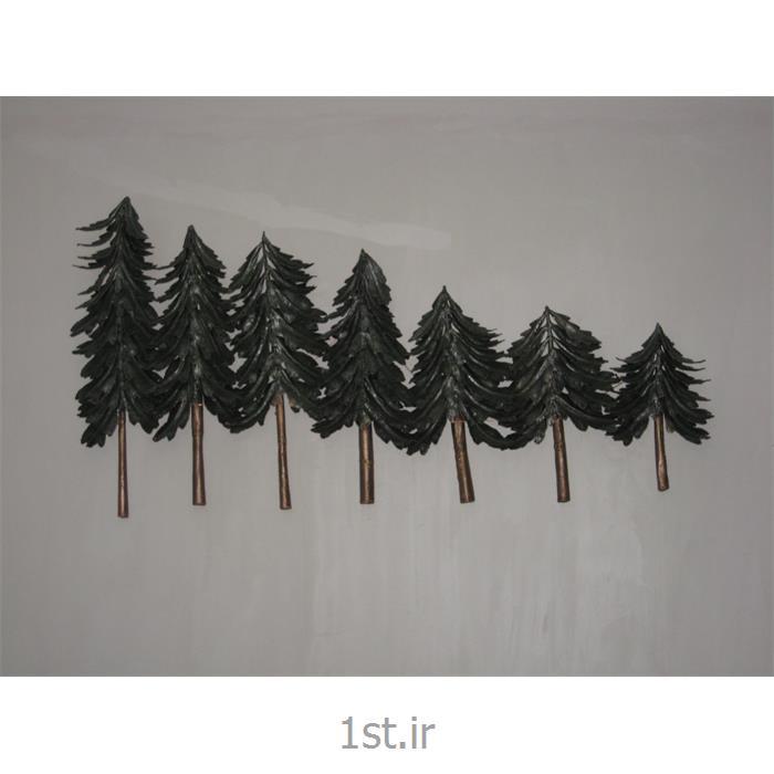 تابلو فلزی دیواری مدل درختان کاج