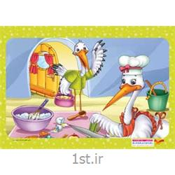 جورچین(پازل )کودکانه 35تکه ای لک لک - نشر جمال