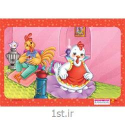 جورچین (پازل )کودکانه 35 تکه ای مرغ و خروس - نشر جمال