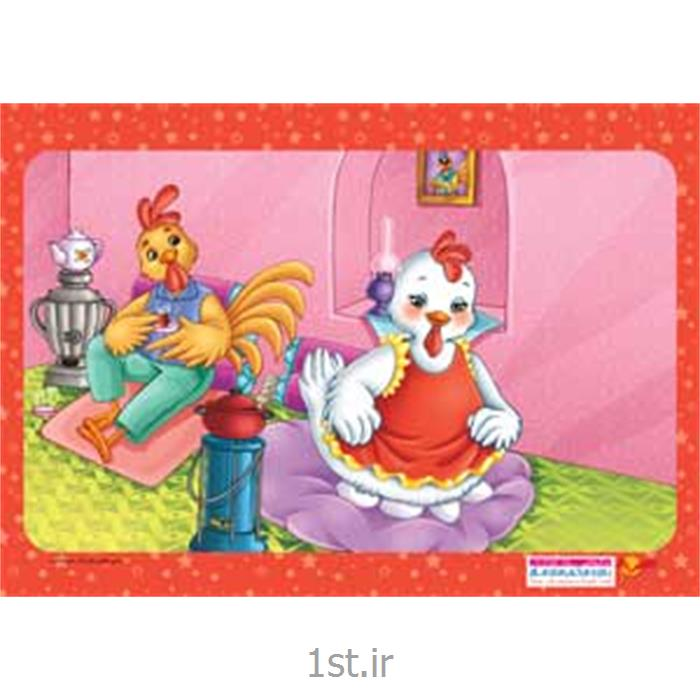 عکس پازلجورچین (پازل )کودکانه 35 تکه ای مرغ و خروس - نشر جمال