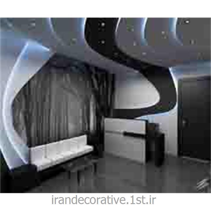 دکوراسیون داخلی فضای مسکونی و سقف پوش طرحدار