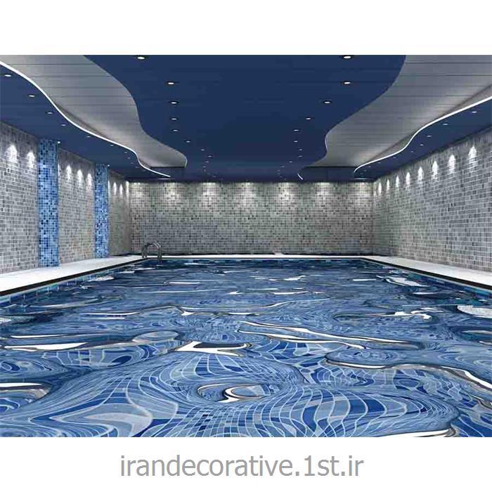 طراحی و دکوراسیون استخر با طراحی دیوارپوش آذران پلاستیک(ایران دکوراتیو) رنگ پانل آبی