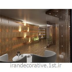 طراحی 3 بعدی فضای مسکونی (ایران دکوراتیو) با دیوارپوش پی وی سی آذران پلاستیک رنگ پانل کرم و قهوه ای