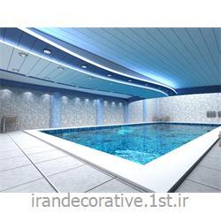 طراحی و دکوراسیون ورزشی با،طراحی دیوارپوش،سقفپوش آذران پلاستیک(ایران دکوراتیو) رنگ پانل آبی تیره