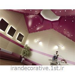 طراحی و دکوراسیون داخلی،اجرای دیوارپوش سالن زیبایی (ایران دکوراتیو) divarpoosh pvc azaran plastic رنگ سفید و بنفش