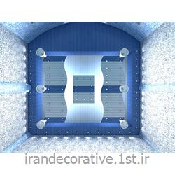 طراحی و دکوراسیون استخر با طراحی دیوارپوش،سقفپوش آذران پلاستیک(ایران دکوراتیو) رنگ پانل آبی روشن