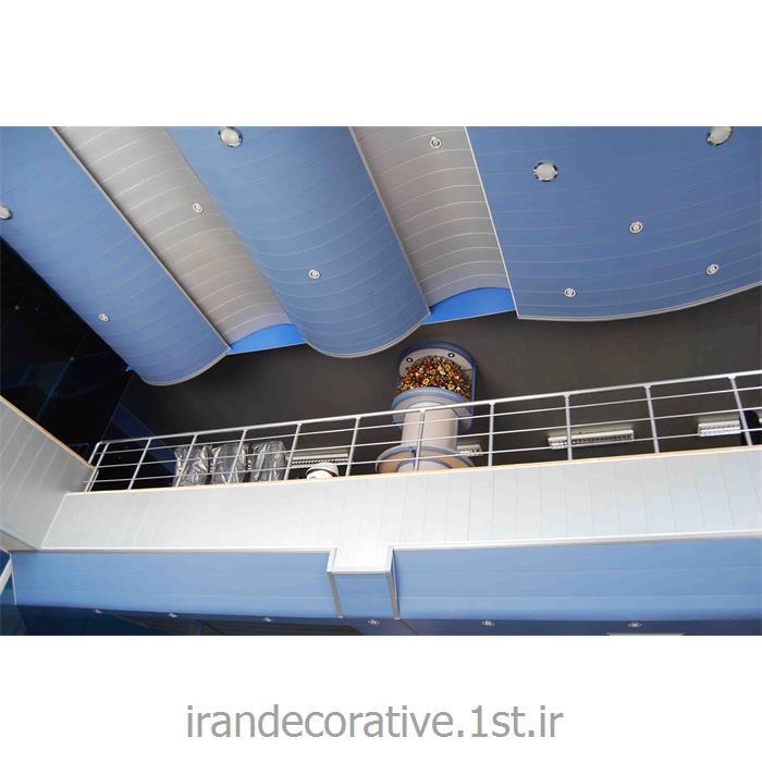 طراحی و اجرای سقف پوش و دکوراسیون داخلی فضای اداری ایران دکوراسیون با دیوارپوش پانل پی وی سی آذران پلاستیک طرحدار