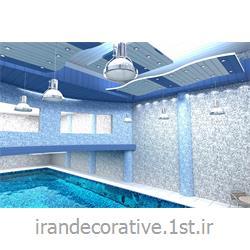 طراحی و دکوراسیون ورزشی با طراحی دیوارپوش،سقفپوش آذران پلاستیک(ایران دکوراتیو) رنگ پانل پی وی سی آبی