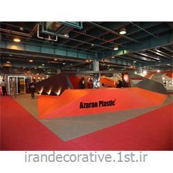 اجرای دیوارکوب و سقف پوش در طراحی غرفه (ایران دکوراتیو) divarpoosh pvc azaran plastic