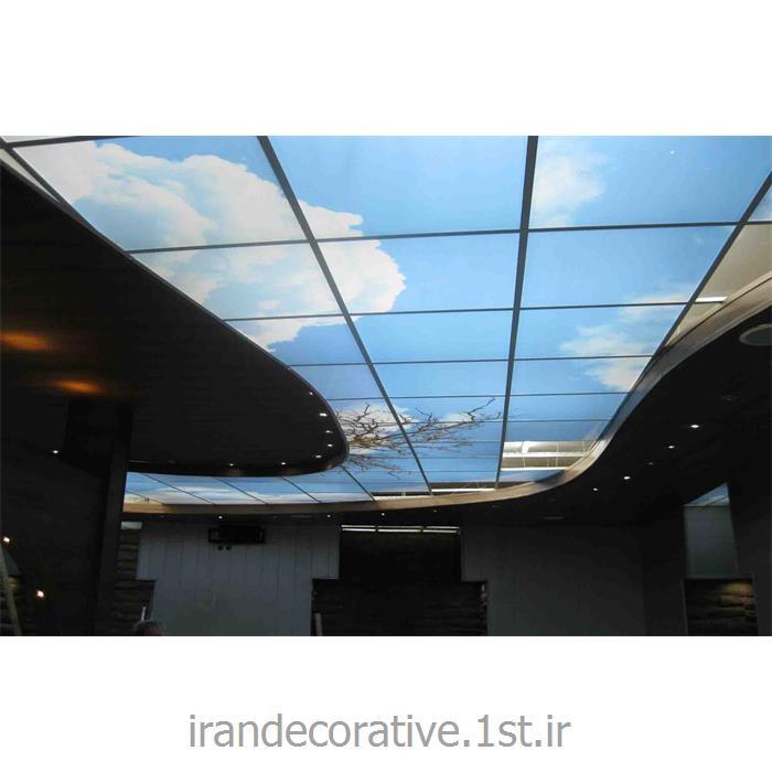 اجرای سقف پوش طرح آسمان رستوران ، با دیوارپوش pvc آذران پلاستیک
