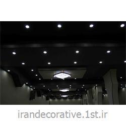 طراحی و اجرای سقف پوش طرحدار ایران دکوراسیون با دیوارپوش پانل پی وی سی آذران پلاستیک رنگ کرم و قهوه ای