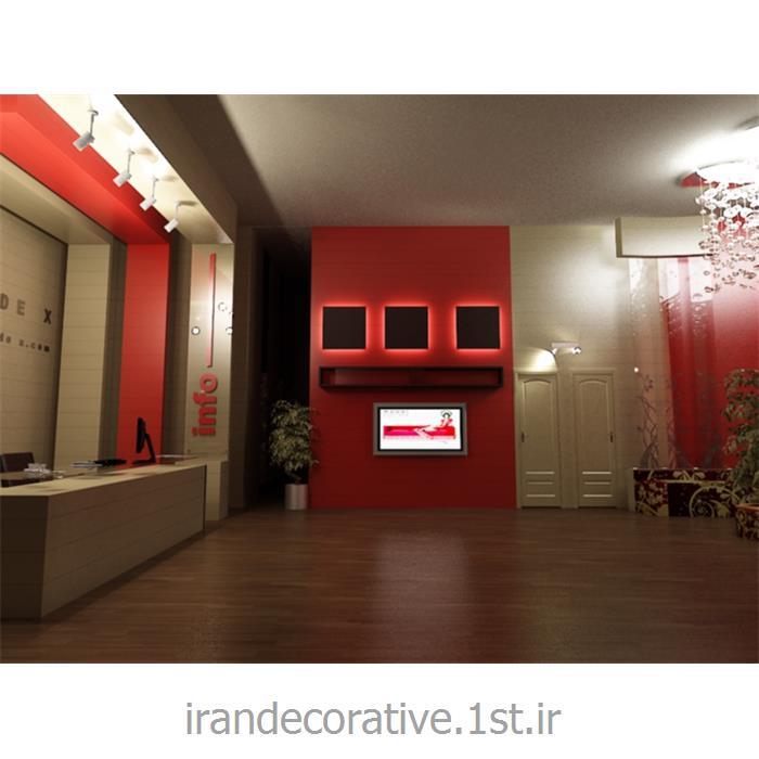 طراحی و دکوراسیون داخلی،اجرای سقف پوش و دیوارپوش (ایران دکوراتیو) divarpoosh pvc azaran plastic رنگ قرمز و سفید