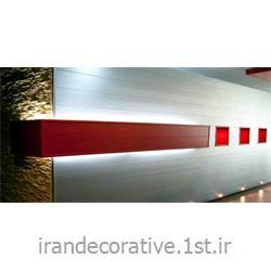 عکس کاغذ دیواری و دیوار پوشطراحی لایت باکس و دیوارپوش طرحدار(ایران دکوراتیو) با دیوارپوش pvc آذران پلاستیک رنگ پانل قرمز و نقره ای