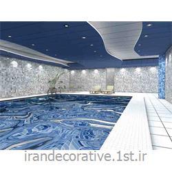 طراحی،دکوراسیون داخلی استخر (ایران دکوراتیو) با طراحی دیوارپوش،سقفپوش پانل پی وی سی آذران پلاستیک با پانل آبی رنگ