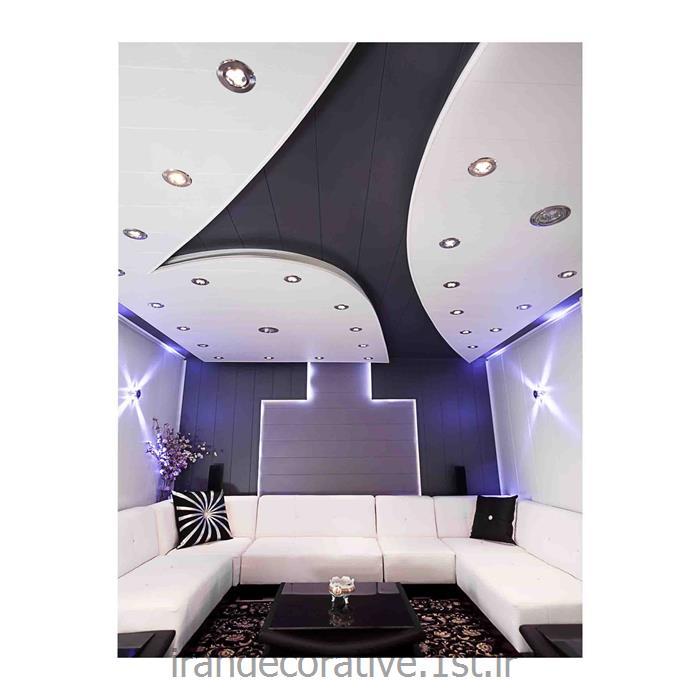 طراحی سقف پوش و دیوارپوش طرحدار منزل (ایران دکوراتیو) با divarpoosh pvc azaran plastic رنگ سفیدوطوسی
