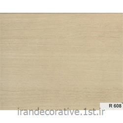 عکس کاغذ دیواری و دیوار پوشدیوار پوش کد R 608 رنگ کرم قهوه ای با رگه های چوبی